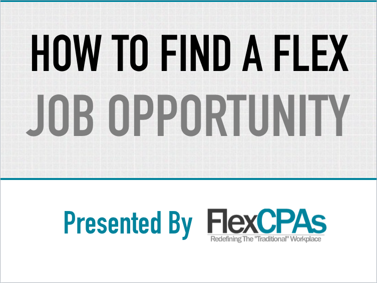 How to find a flex job opportuntity